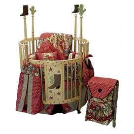 'PT-Little Cowboy Round Crib'