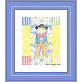 'PT-Willie Cowboy Frog Framed Print'