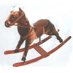 BU-Plush Thoroughbred Rocking Horse