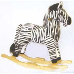 BU-Plush Zebra Rocker