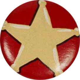 PT-Red Sheriff Star Knob