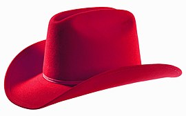 SHP-Red Felt Cowboy Hat