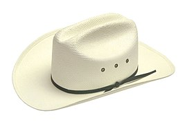 SHP-White Steraw Cowboy Hat - Large