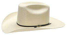 SHP-White Straw Panhandle Cowboy Hat