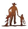 'BF-Cowboy & son wall accent-small'