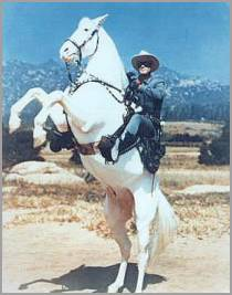 'Lone Ranger on Silver'
