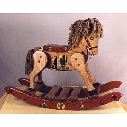 BU-Personalized Cowboy Rocking Horse