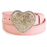 'SHP-Cowgirl Pink Heart Belt & Buckle'